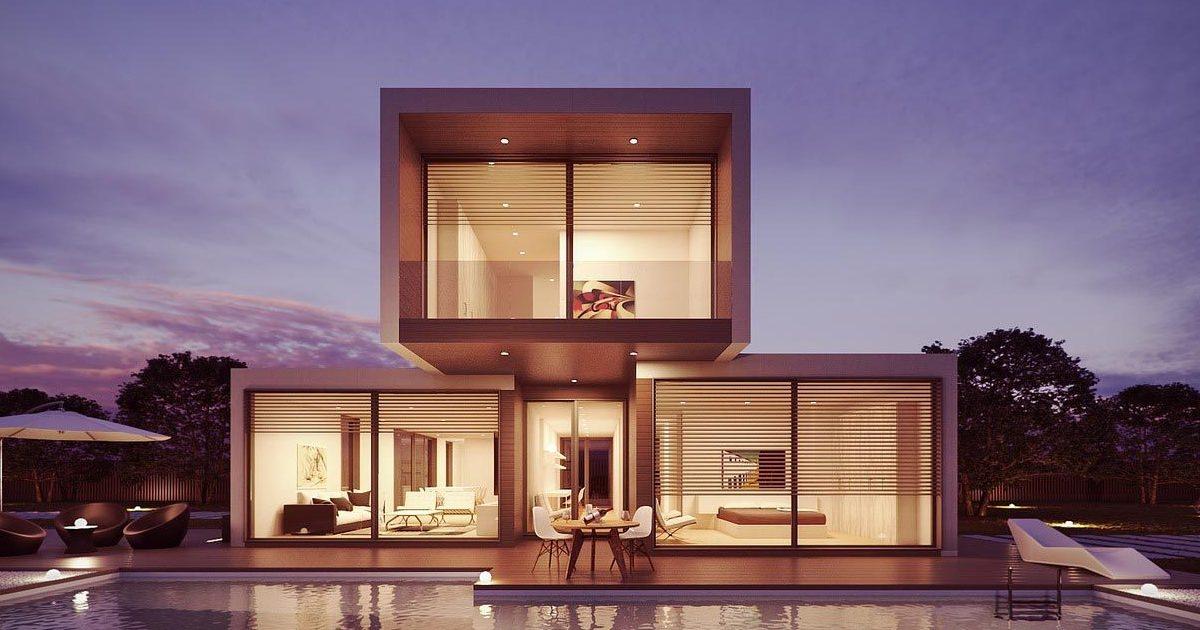 Immagine di un rendering 3D di casa fatto con un software di architettura