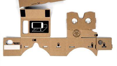 Visore Google Cardboard in cartone da assemblare